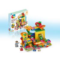 Конструктор Pilage Магазин игрушек (117 деталей), лабиринт с шариками и воронками