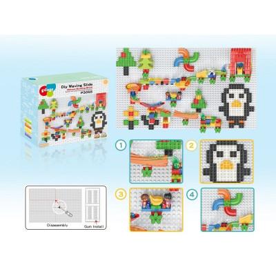 Конструктор Pilage Настенная мозаика (283 детали), лабиринт с шариками и воронками