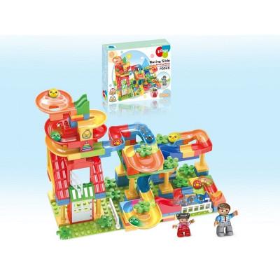 Конструктор Pilage Детский сад (206 деталей), лабиринт с шариками и воронками
