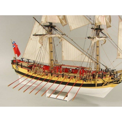 Сборная картонная модель Shipyard шлюп HMS Wolf (№49), 1/96