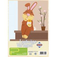 Заготовка из фанеры Пасхальный кролик для выпиливания лобзиком (373/2S)