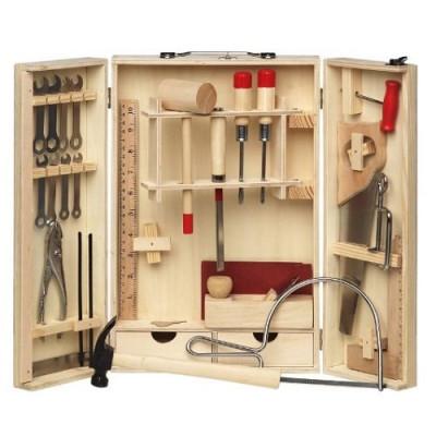Набор инструментов для работы по дереву для начинающих в деревянном ящике Pebaro