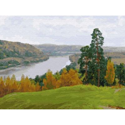 Картина по номерам 40х50 Бузин. Осень на оке (28 цветов)