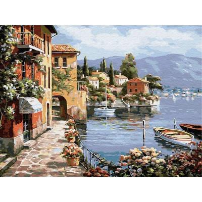 Картина по номерам 40х50 Каменная набережная (28 цветов)
