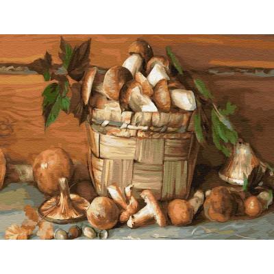 Картина по номерам 40х50 Бузин. Деревенский натюрморт (27 цветов)