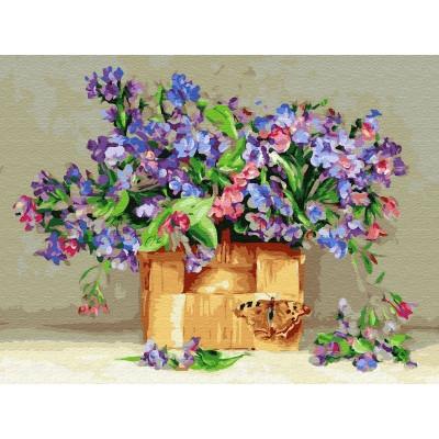 Картина по номерам 40х50 Бузин. Медуницы (28 цветов)