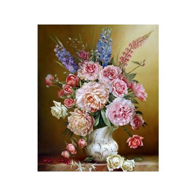 Картина по номерам 40х50 Бузин. Свежий букет (25 цветов)