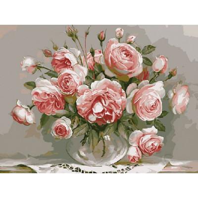 Картина по номерам 40х50 Бузин. Розовый вечер (21 цвет)