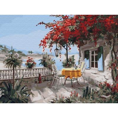 Картина по номерам 40х50 Уютный уголок (25 цветов)