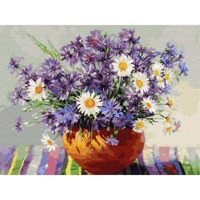 Картина по номерам 40х50 Бузин. Васильки (29 цветов)