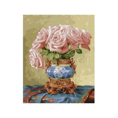Картина по номерам 40х50 Бузин. Восточные розы (28 цветов)