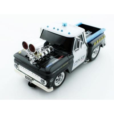 Р/У полицейский пикап из серии Muscle Сar с гоночным Мотор. 1/16 + свет + звук
